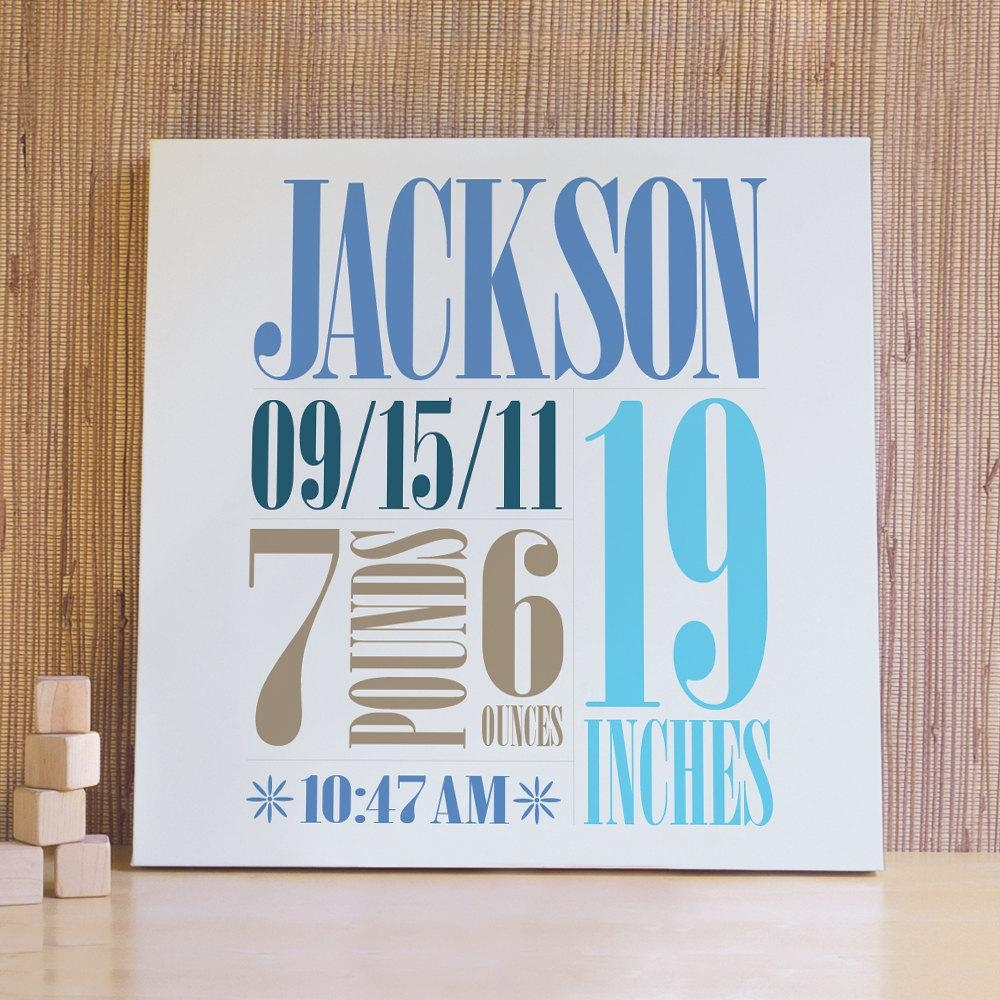 Wall Art Ideas Design : Populer Items Personalized Name Wall Art Throughout Personalized Baby Wall Art (View 1 of 20)