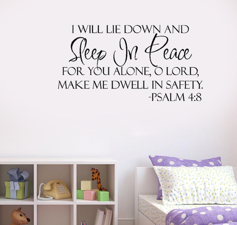 Wall Art Ideas Design : Sleep In Peace Wall Art Bible Verses Home Intended For Bible Verses Wall Art (View 4 of 20)