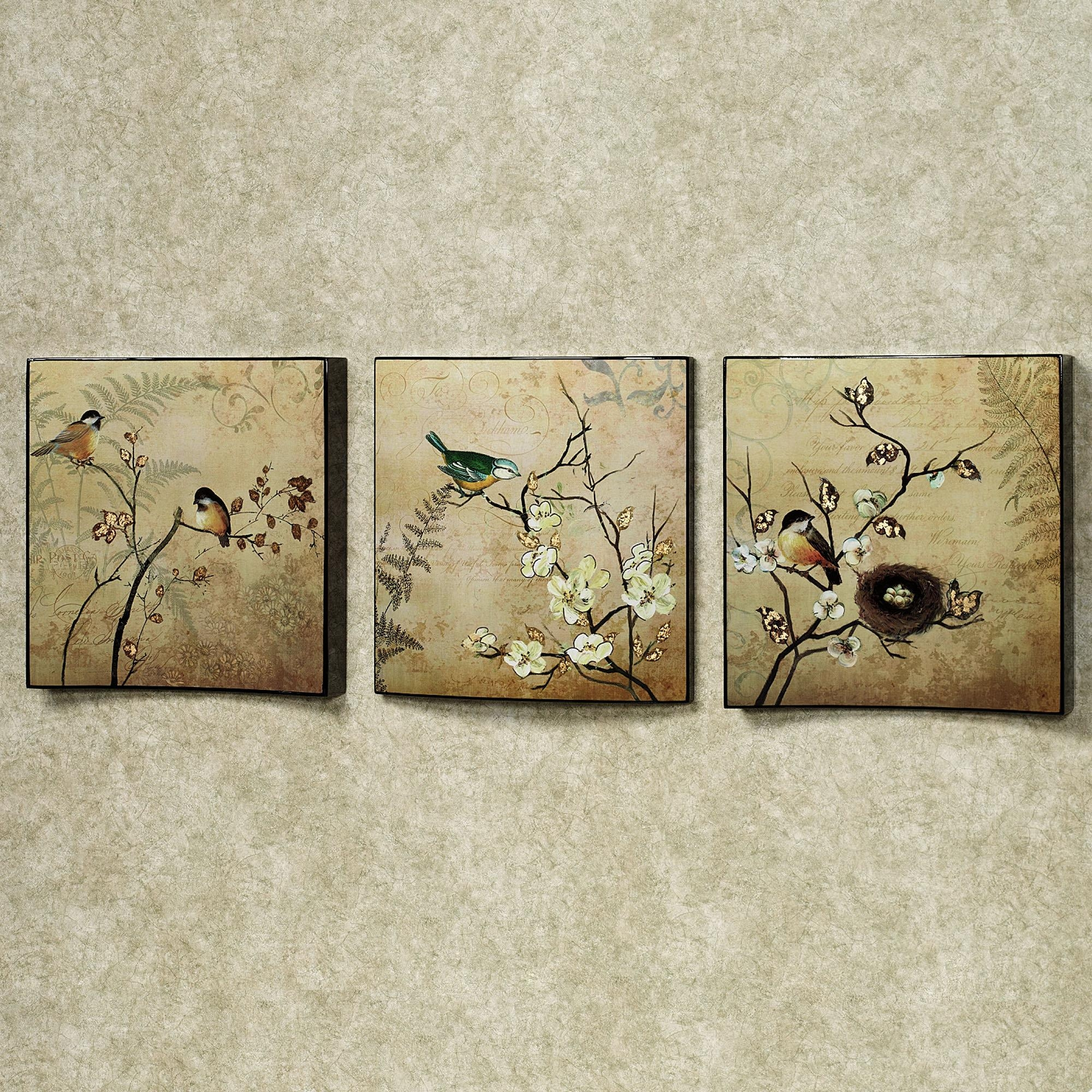 Wall Art Ideas Design : Vintage Style Wall Art Set Of Three Nature For Vintage Style Wall Art (View 4 of 20)