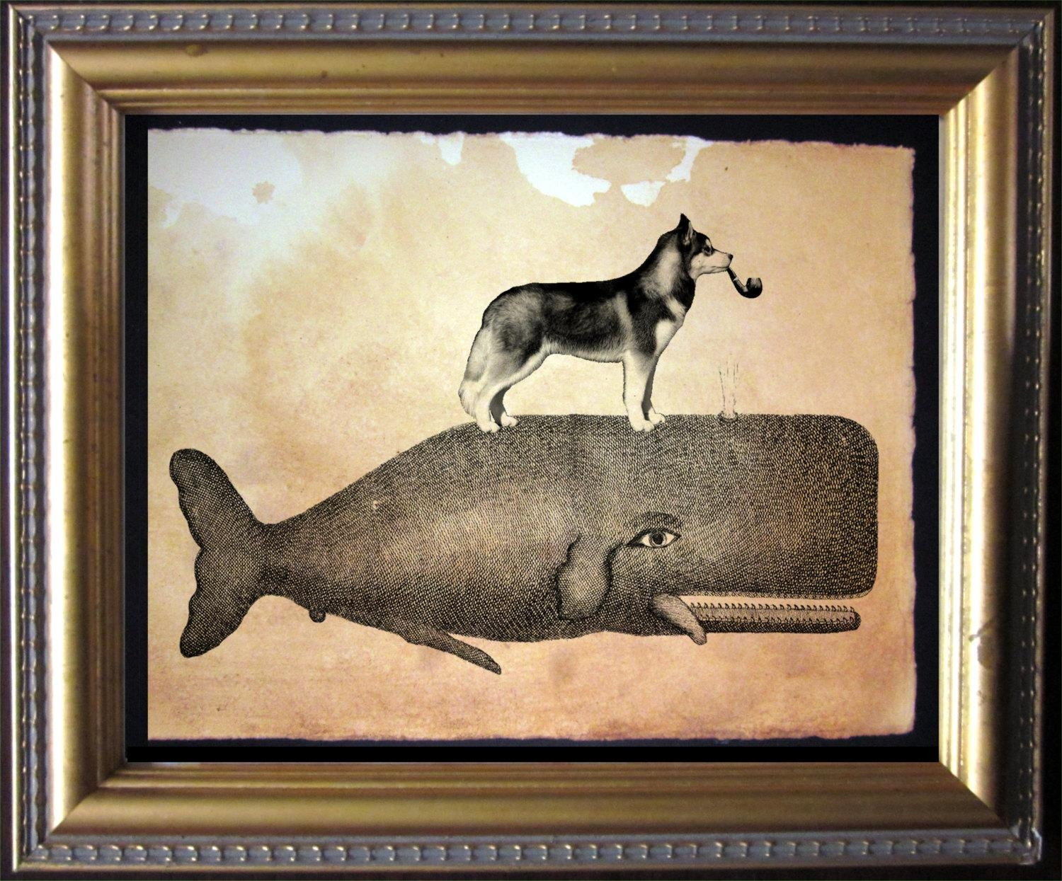 Wall Art Ideas Design : Whale Antique Wall Art Wolf On Top Simple For Dachshund Wall Art (Image 19 of 20)