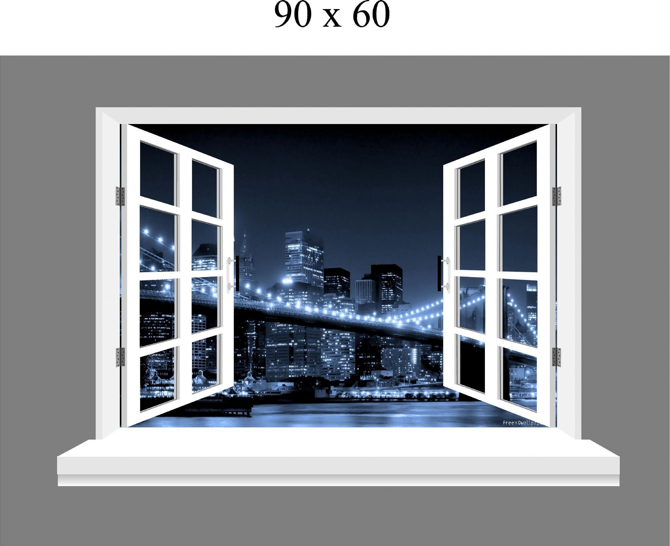 Wall Art Ideas Design : Window Three Dimensional Brooklyn Wall Art In Brooklyn Bridge Wall Decals (Photo 17 of 20)
