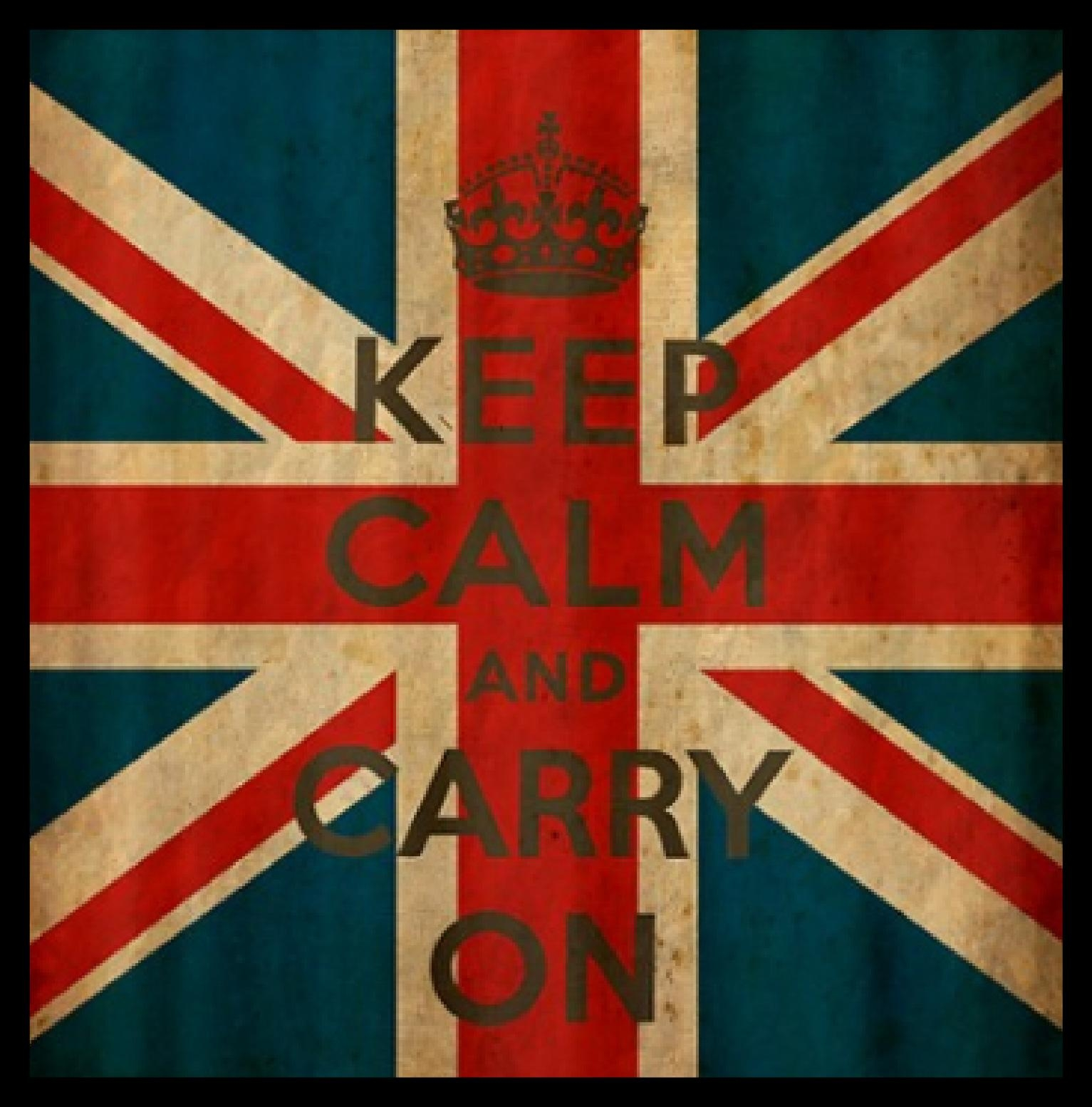"Wall Art – ""keep Calm & Carry On"" 