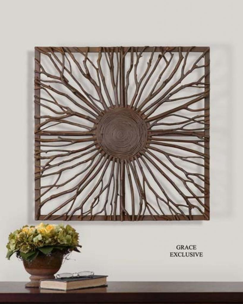 Wall Art: Large Contemporary Circular Metal Wall Art Contemporary Regarding Large Round Wall Art (Image 16 of 20)