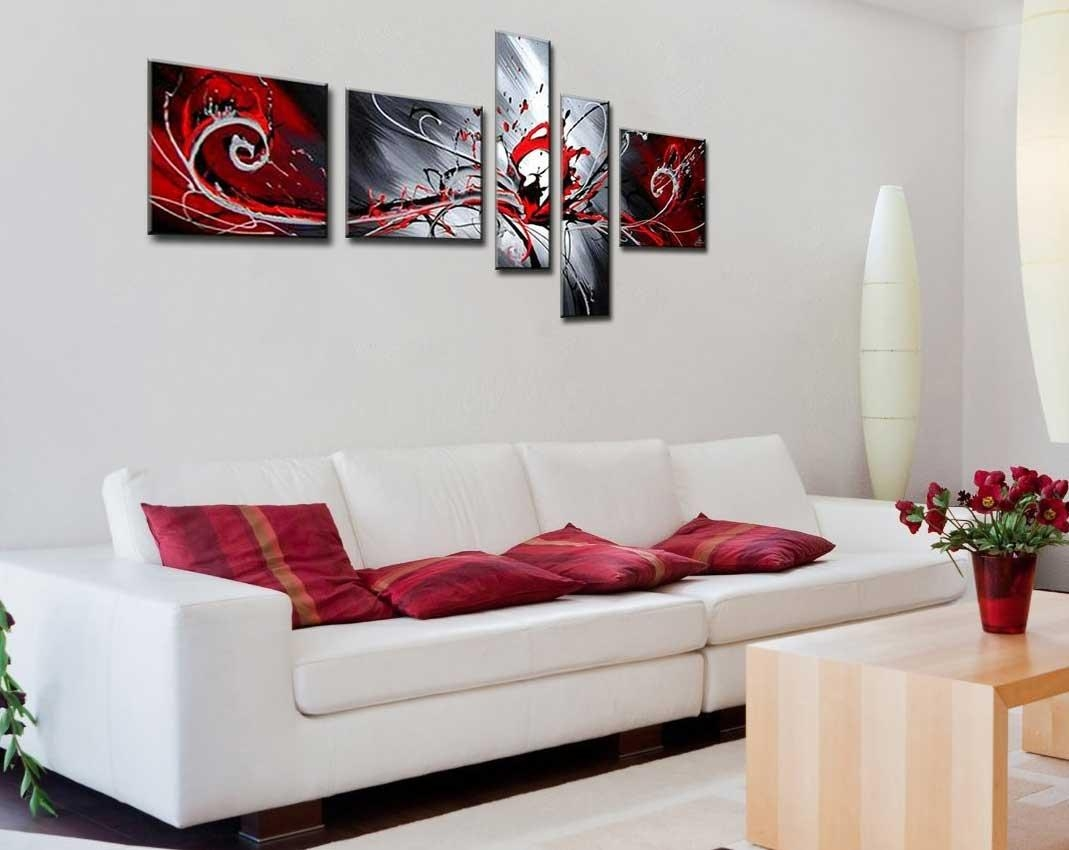 Wall Art Multiple Pieces Modern Abstrack Design | Home Interior With Regard To Wall Art Multiple Pieces (View 4 of 20)