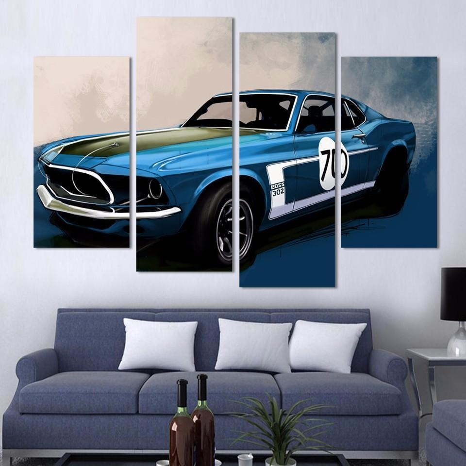 Wall Art Painting Car Promotion Shop For Promotional Wall Art In Classic Car Wall Art (Image 18 of 20)