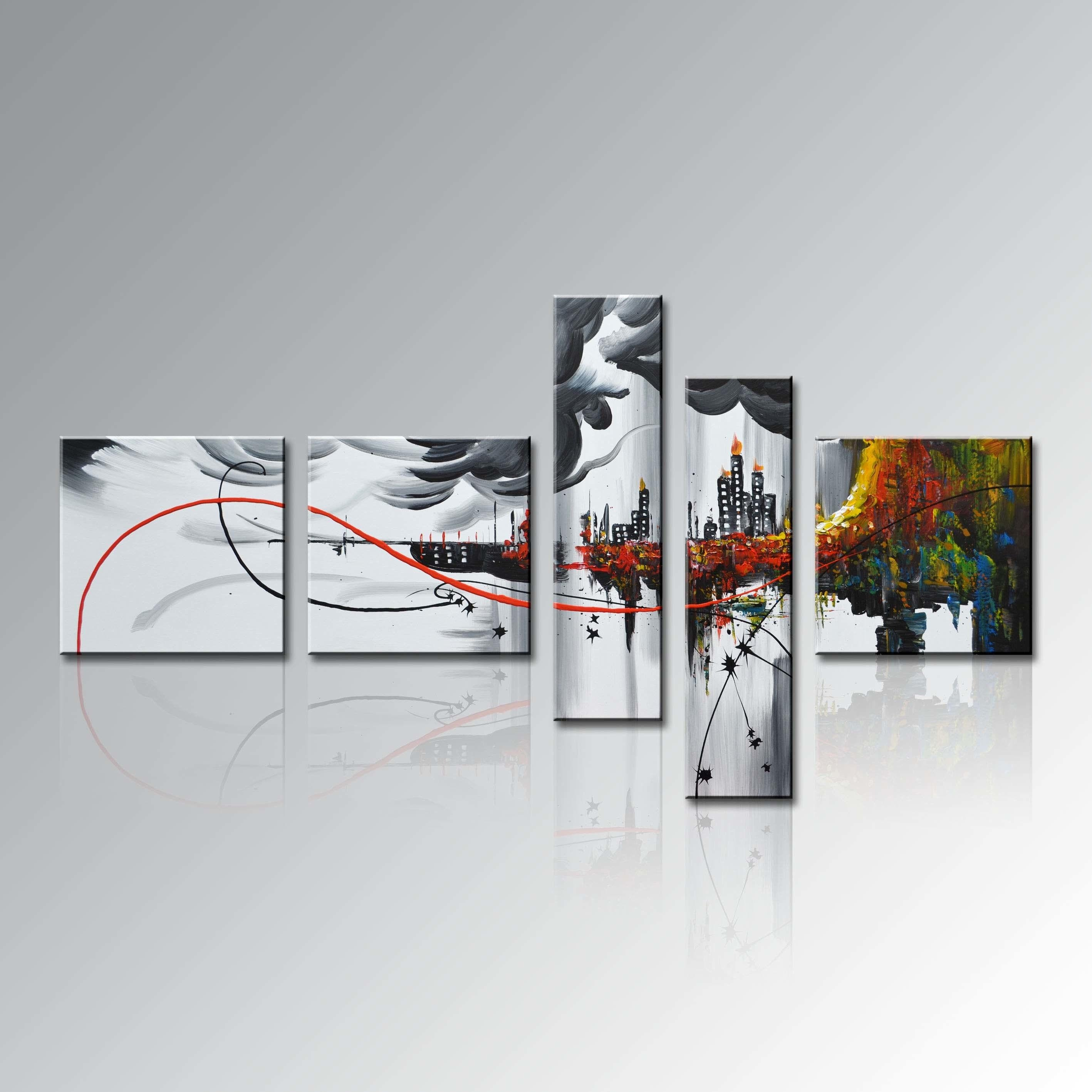 Wall Art Paintings Abstract In Oil Painting Wall Art On Canvas (View 14 of 20)