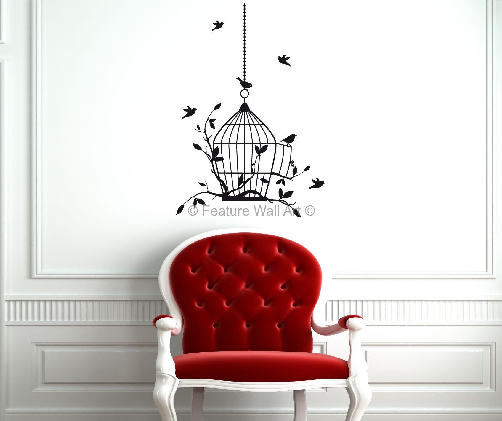 Wall Arts Popular Wall Art Ideas On Metal Wall Art Decor  Home Inside  Metal Birdcage