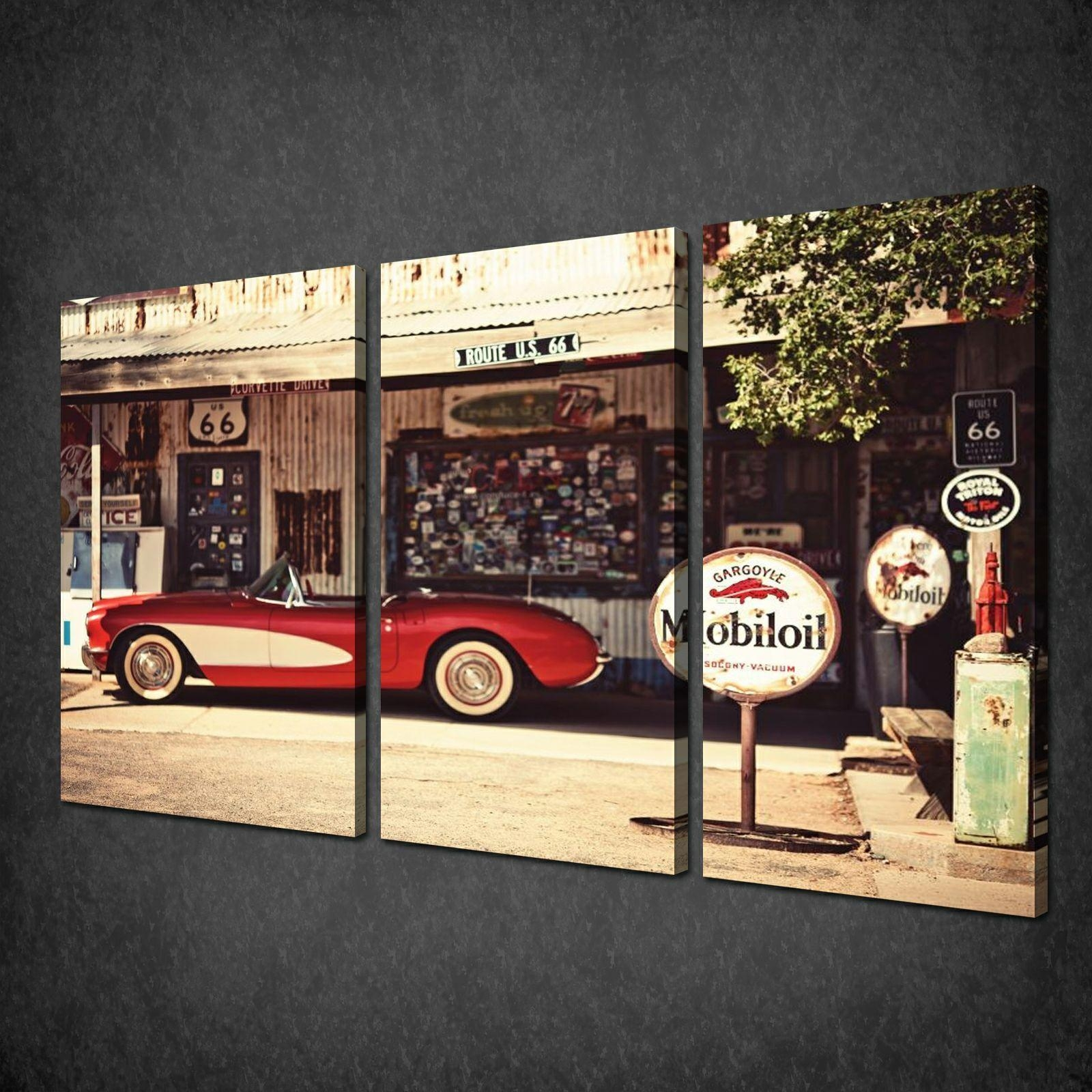 Wall. Automotive Wall Art - Home Interior Design within Large Retro Wall Art