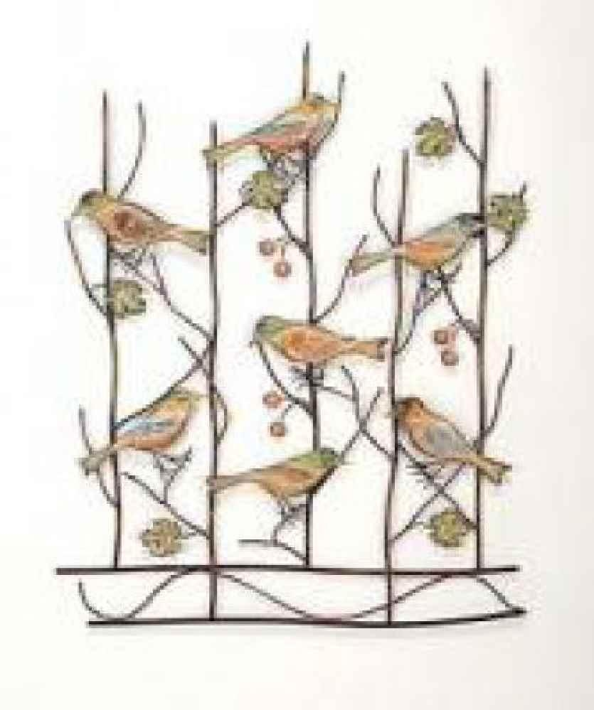 20 best collection of flock of birds metal wall art wall for Bird wall art