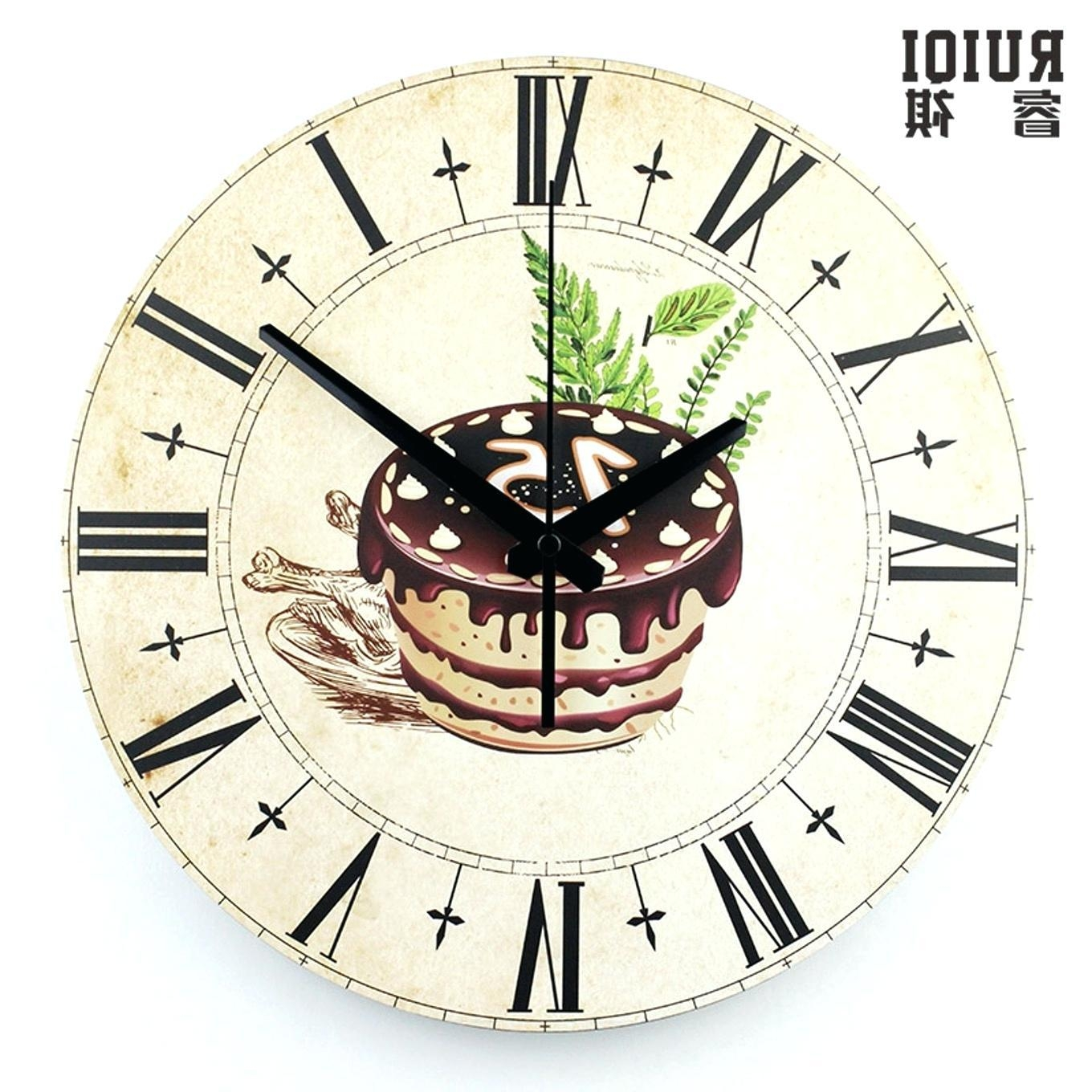 Wall Clocks : Italian Style Wall Clocks Fat Italian Chef Kitchen With Regard To Italian Ceramic Wall Clock Decors (View 12 of 20)