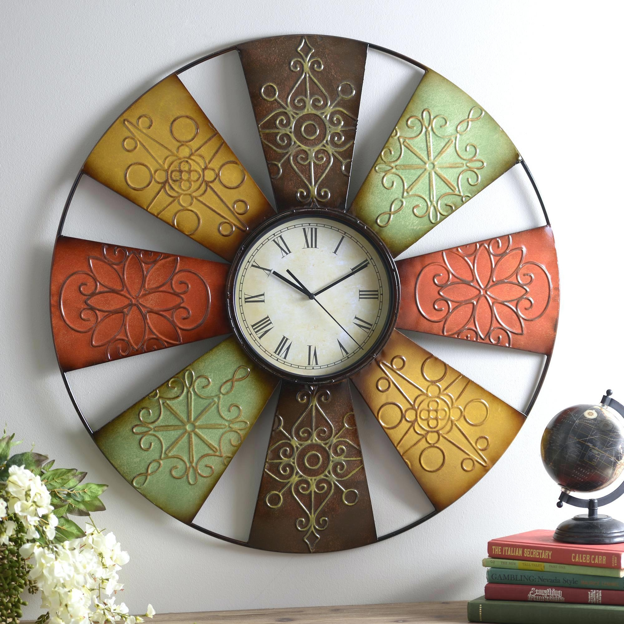 Wall Clocks : Italian Style Wall Clocks Fat Italian Chef Kitchen With Regard To Italian Ceramic Wall Clock Decors (View 8 of 20)