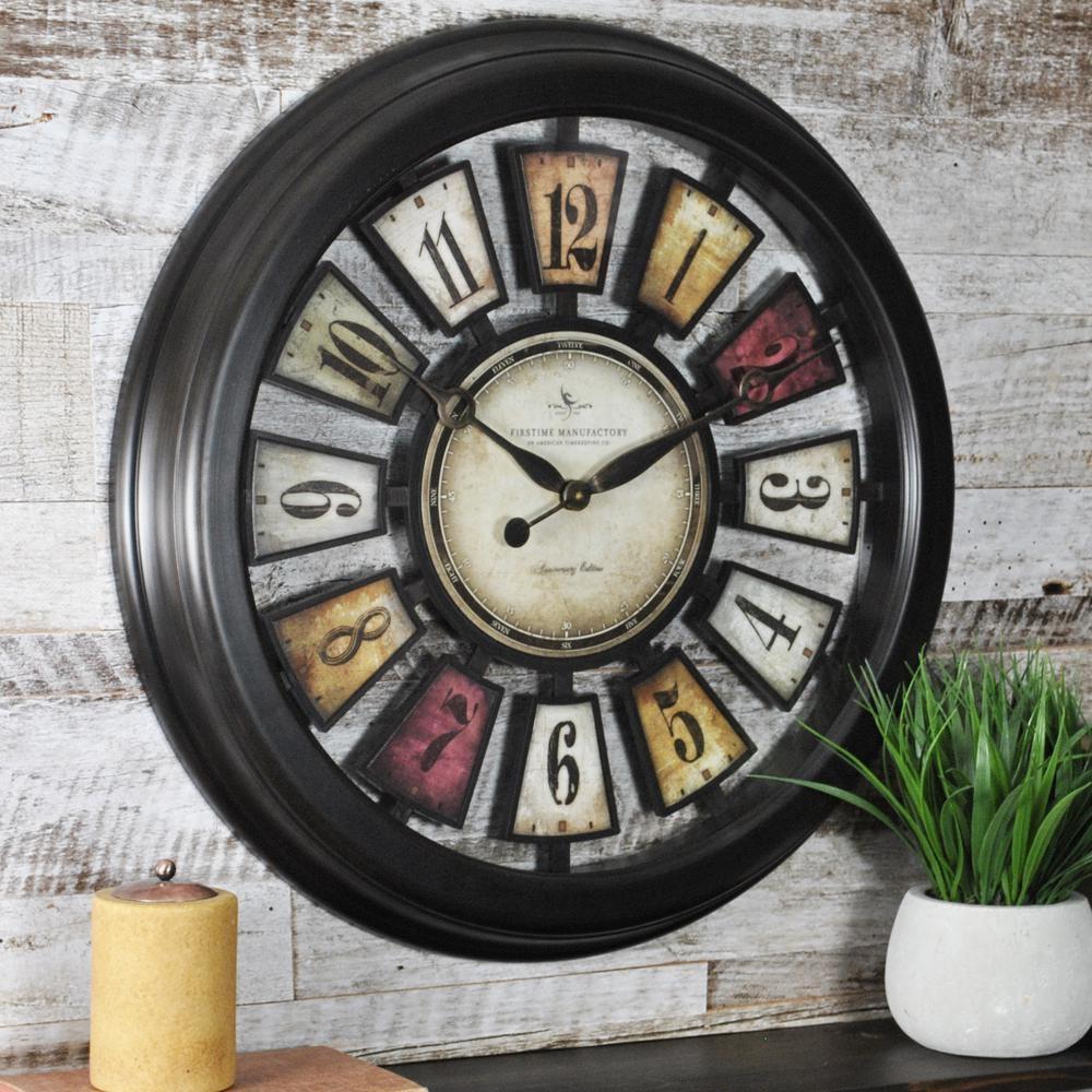 Wall Clocks – Wall Decor – The Home Depot Within Art Deco Wall Clocks (Image 18 of 20)