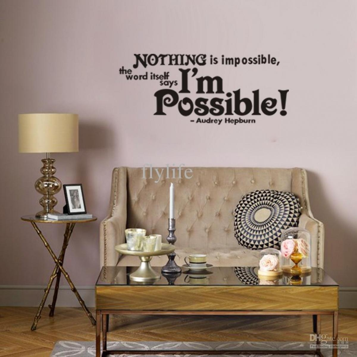 Wall Decal: Awesome Walmart Wall Decals Quotes Quotes Decals With Regard To Walmart Wall Stickers (View 18 of 20)