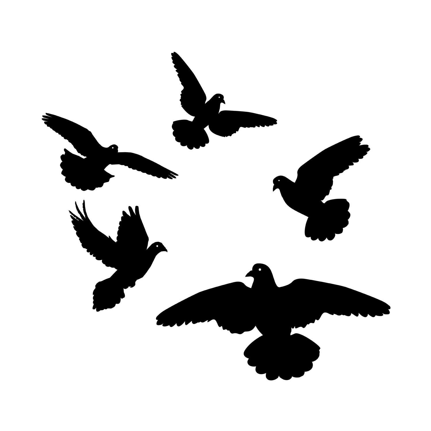 Wall Decal Birds ~ Color The Walls Of Your House With Regard To Flock Of Birds Wall Art (View 14 of 20)