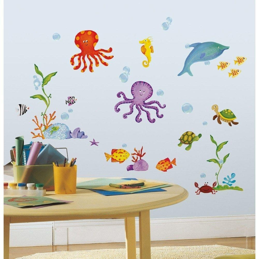 Wall Decal Set Popular Ocean Wall Decals – Home Decor Ideas Within Fish Decals For Bathroom (View 3 of 20)