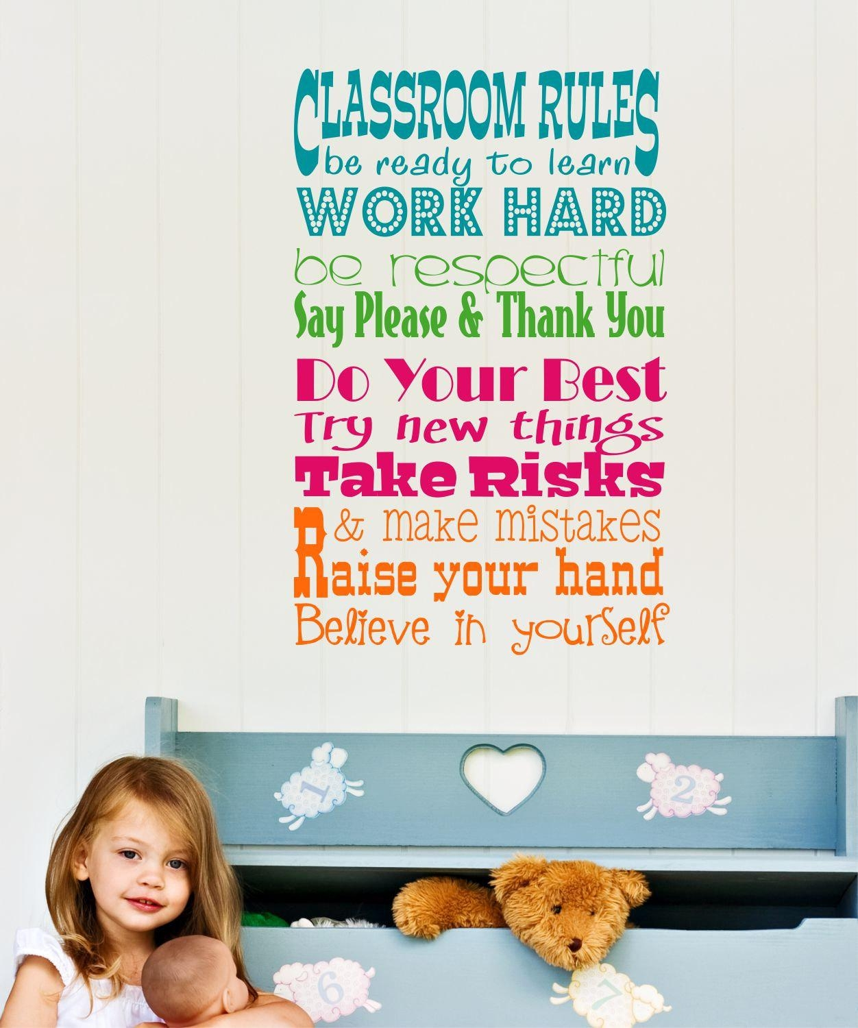 Featured Image of Classroom Vinyl Wall Art