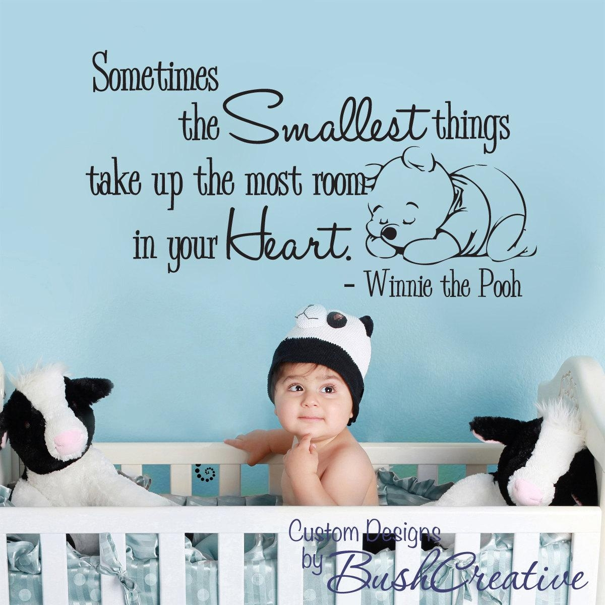 Wall Decal Winnie The Pooh Nursery Wall Words Large Within Winnie The Pooh Nursery Quotes Wall Art (View 16 of 20)