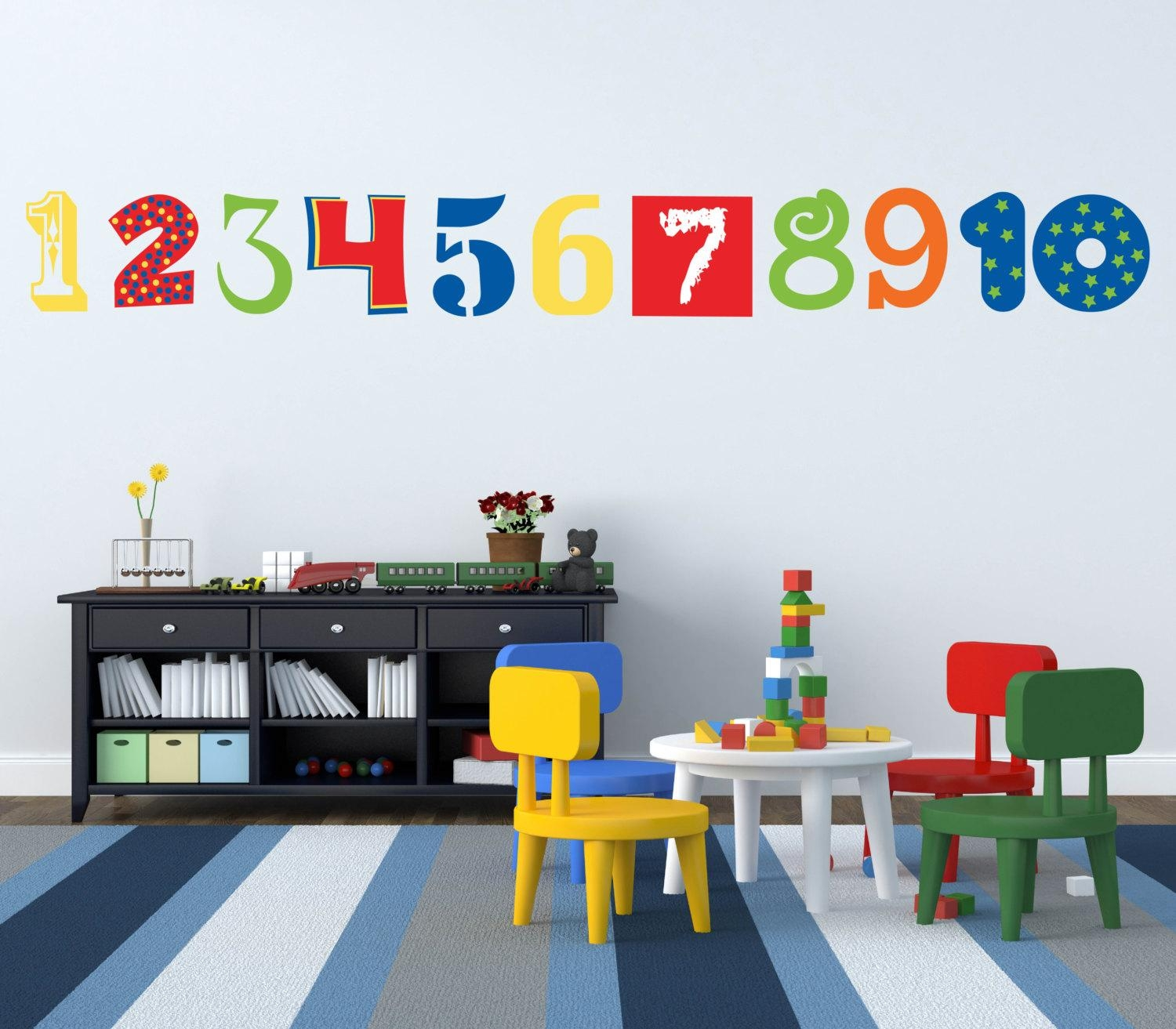 Wall Decals: Gorgeous Alphabet And Number Wall Decals (Image 19 of 20)