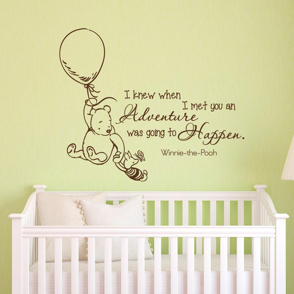 Wall Decals Quotes Classic Winnie The Pooh I Knew When I Met In Winnie The Pooh Wall Decor (Image 12 of 20)