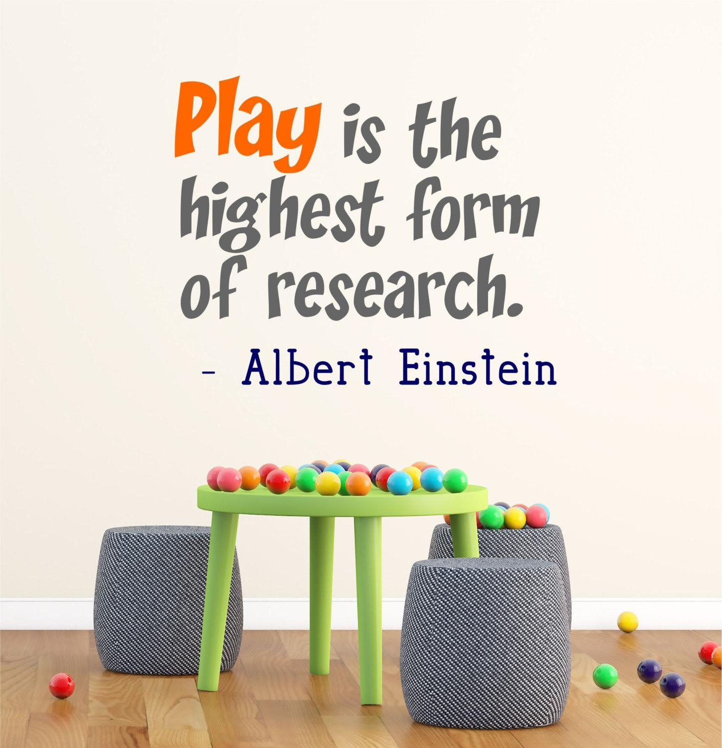 Wall Decals Quotes Einstein ~ Color The Walls Of Your House Pertaining To Preschool Classroom Wall Decals (View 3 of 20)