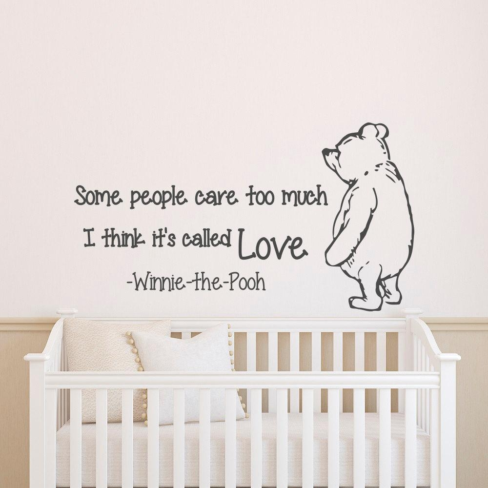 Wall Decals Quotes Winnie The Pooh Wall Decal Quote Some Pertaining To Winnie The Pooh Nursery Quotes Wall Art (Image 14 of 20)
