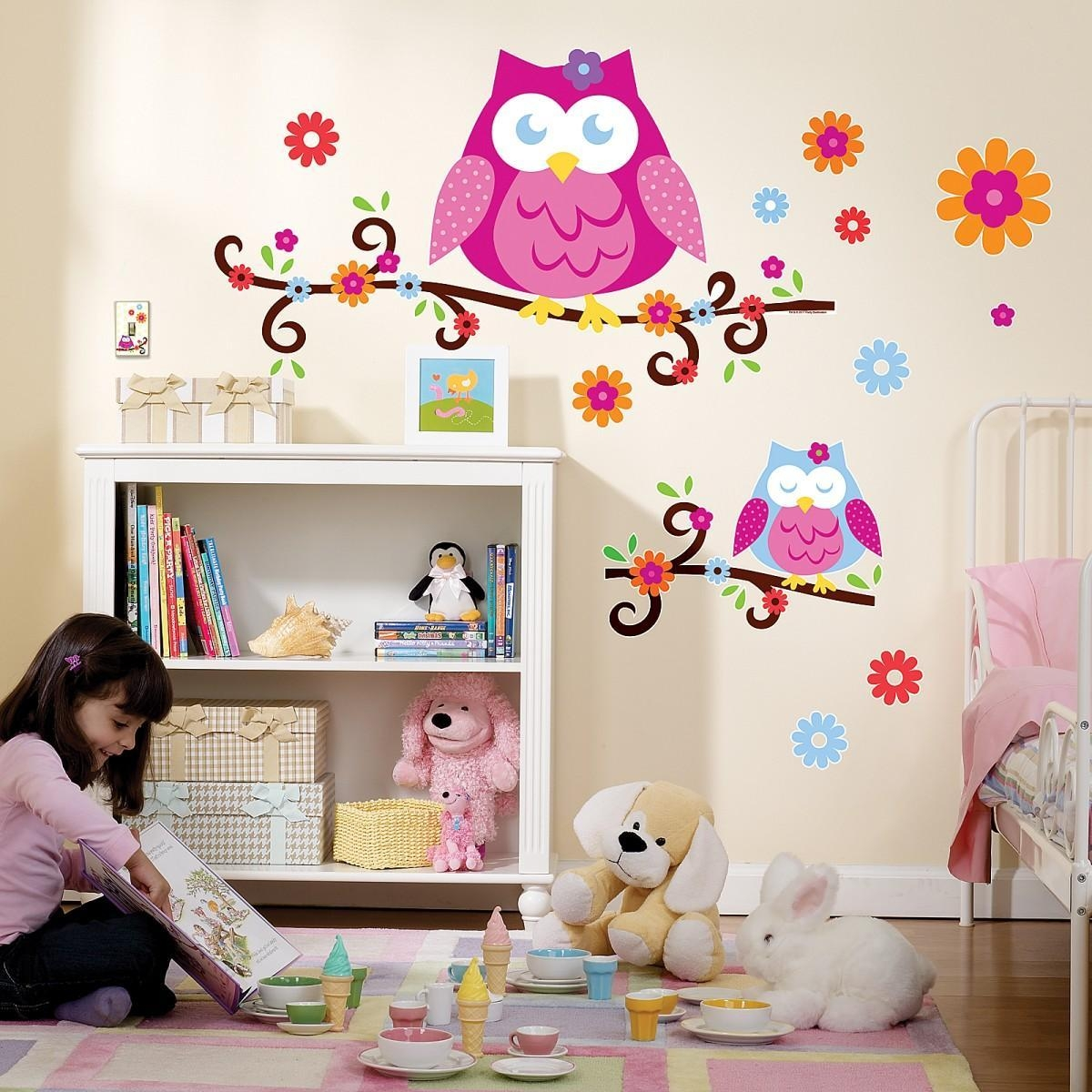Wall Decals : Trendy Colors Owl Wall Decals 117 Owl Wall Stickers For Kohls Wall Art Decals (View 17 of 17)
