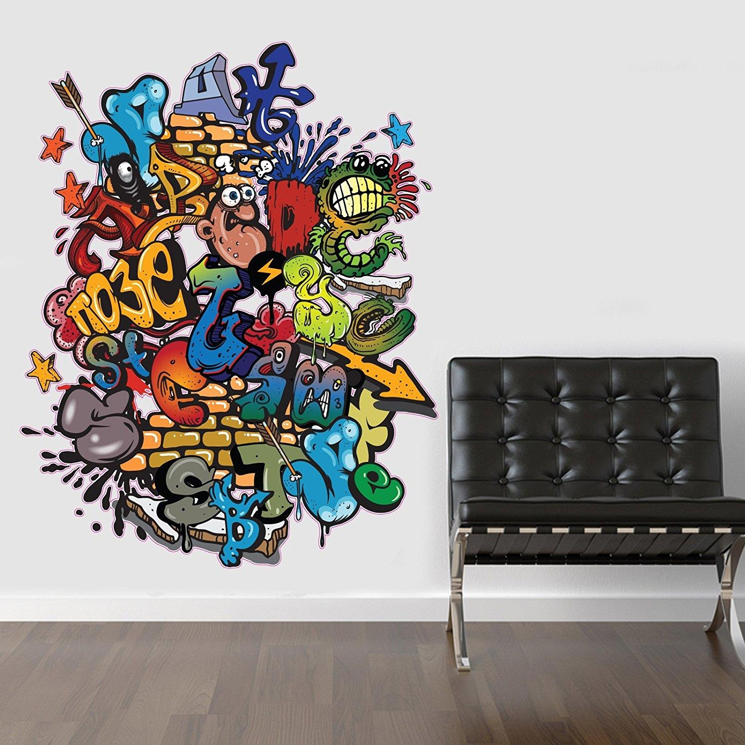 Wall Decals: Winsome Graffiti Name Wall Decals (View 10 of 20)