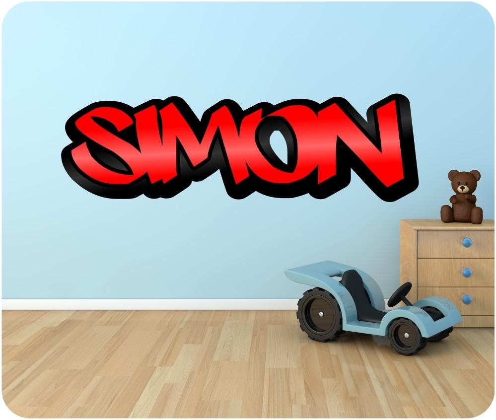 Wall Decals: Winsome Graffiti Name Wall Decals (Image 19 of 20)