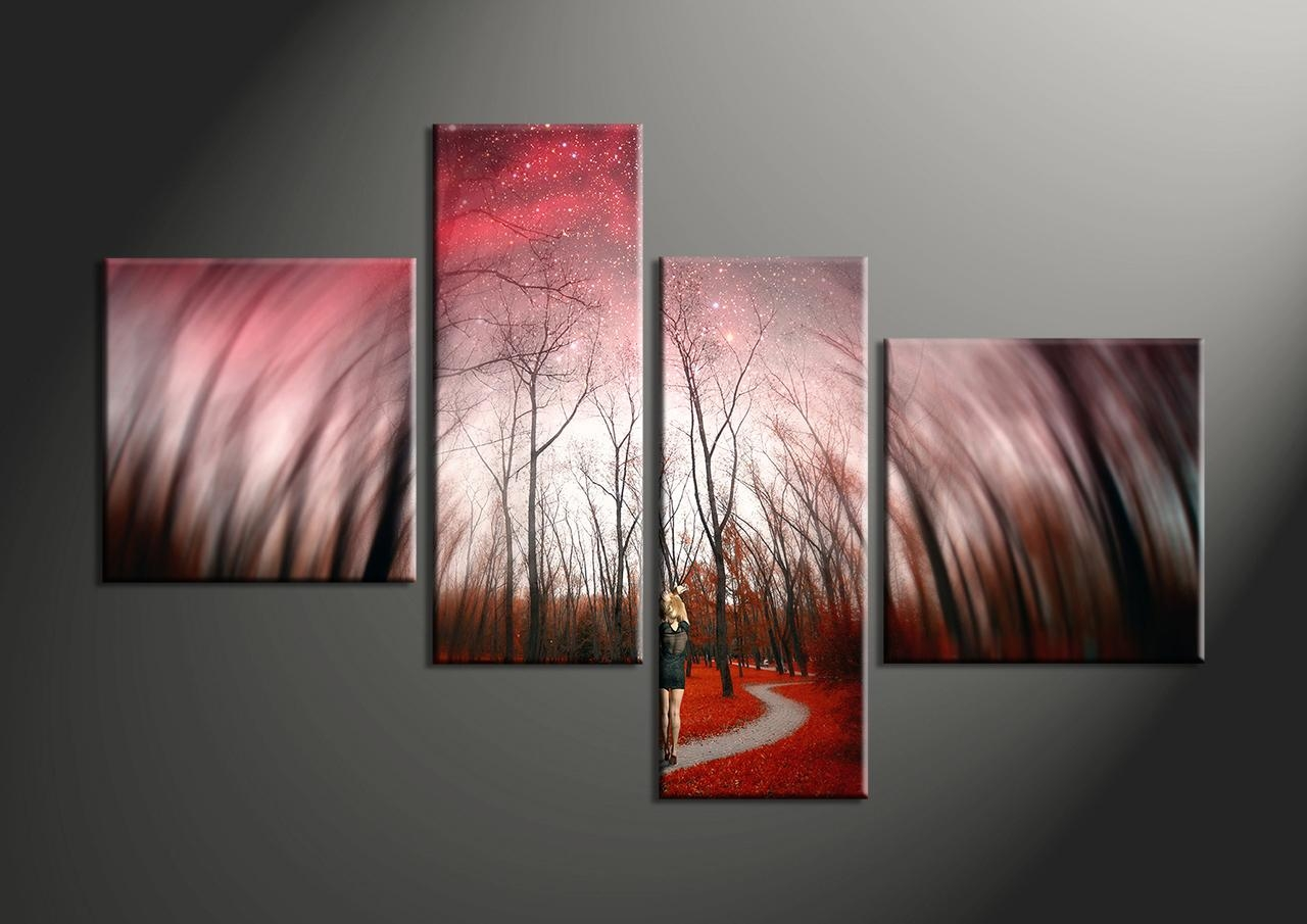 Wall Decor: 4 Piece Wall Art Photo. 4 Piece Wall Art Uk (Image 16 of 20)