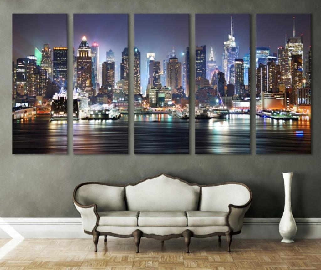 Wall Decor Canvas Prints New York Cityscape Canvas Print Wall Art Throughout Cityscape Canvas Wall Art (Image 20 of 20)