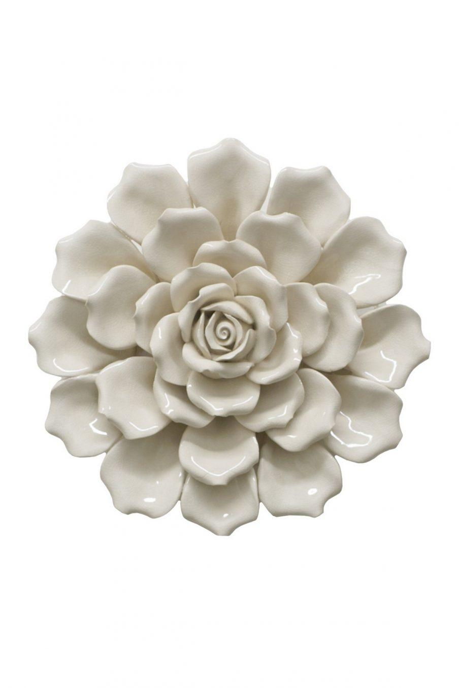 Wall Decor Ceramic Flower Pictures Small With Regard To