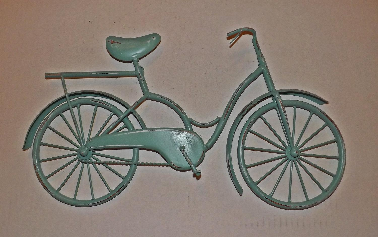 Wall Decor: Metal Bicycle Wall Art Design (View 3 of 20)