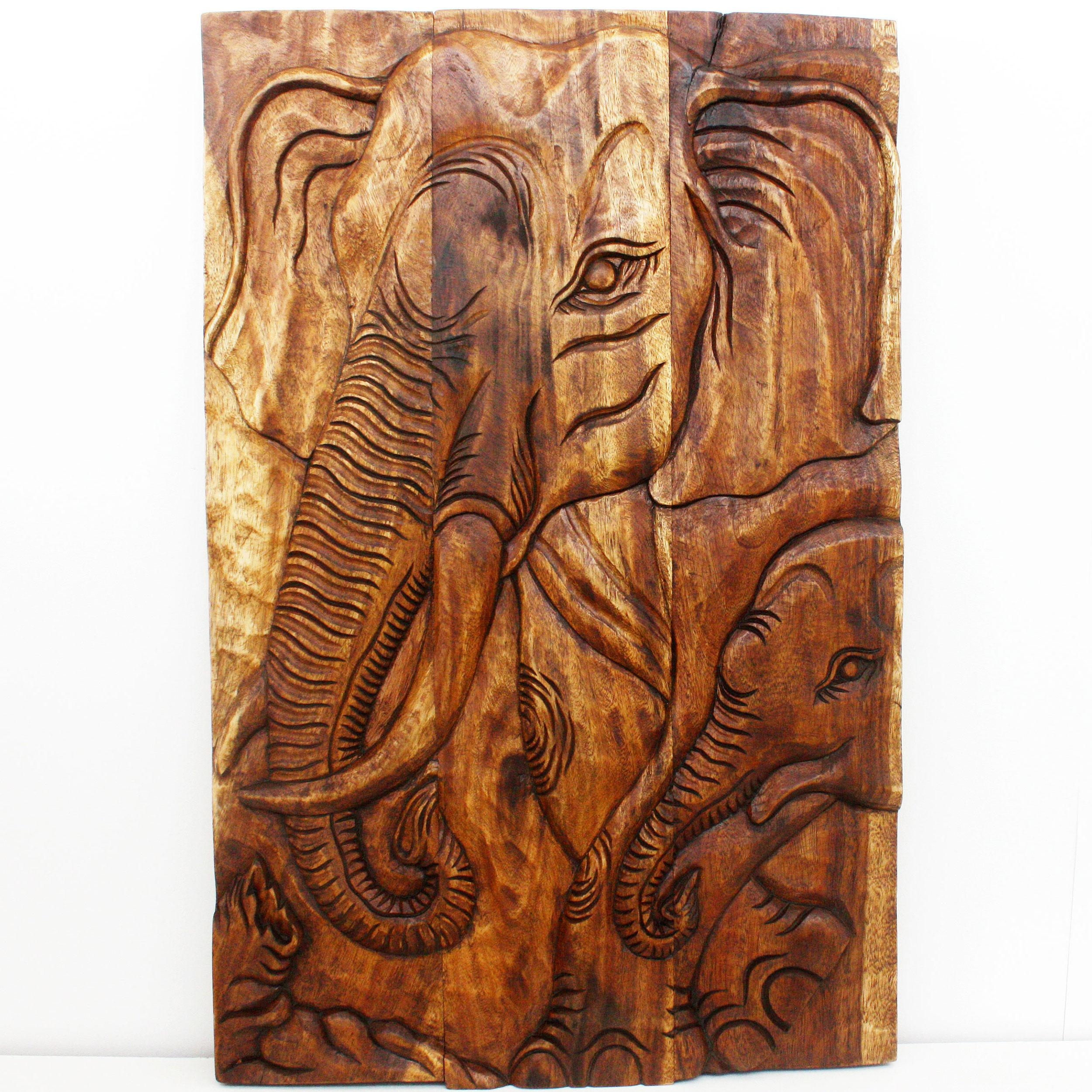 Wall Decor Thailand Wood Art Panels Nature Carvings Within Wood Wall Art Panels (View 13 of 20)