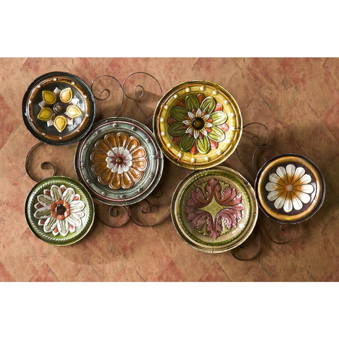 Wall Decorative Plates : Decorative Wall Plates For Hangings – The Within Italian Ceramic Wall Art (Image 20 of 20)