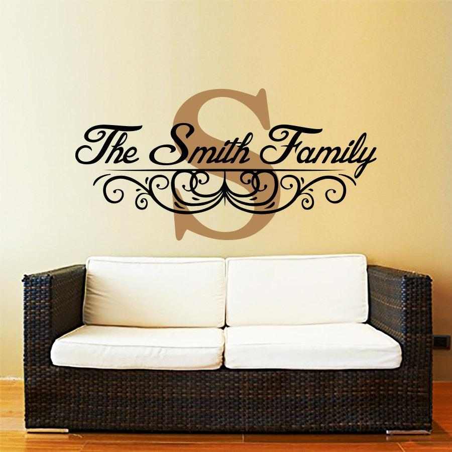 Wall Design: Family Name Wall Art Inspirations (Image 16 of 20)
