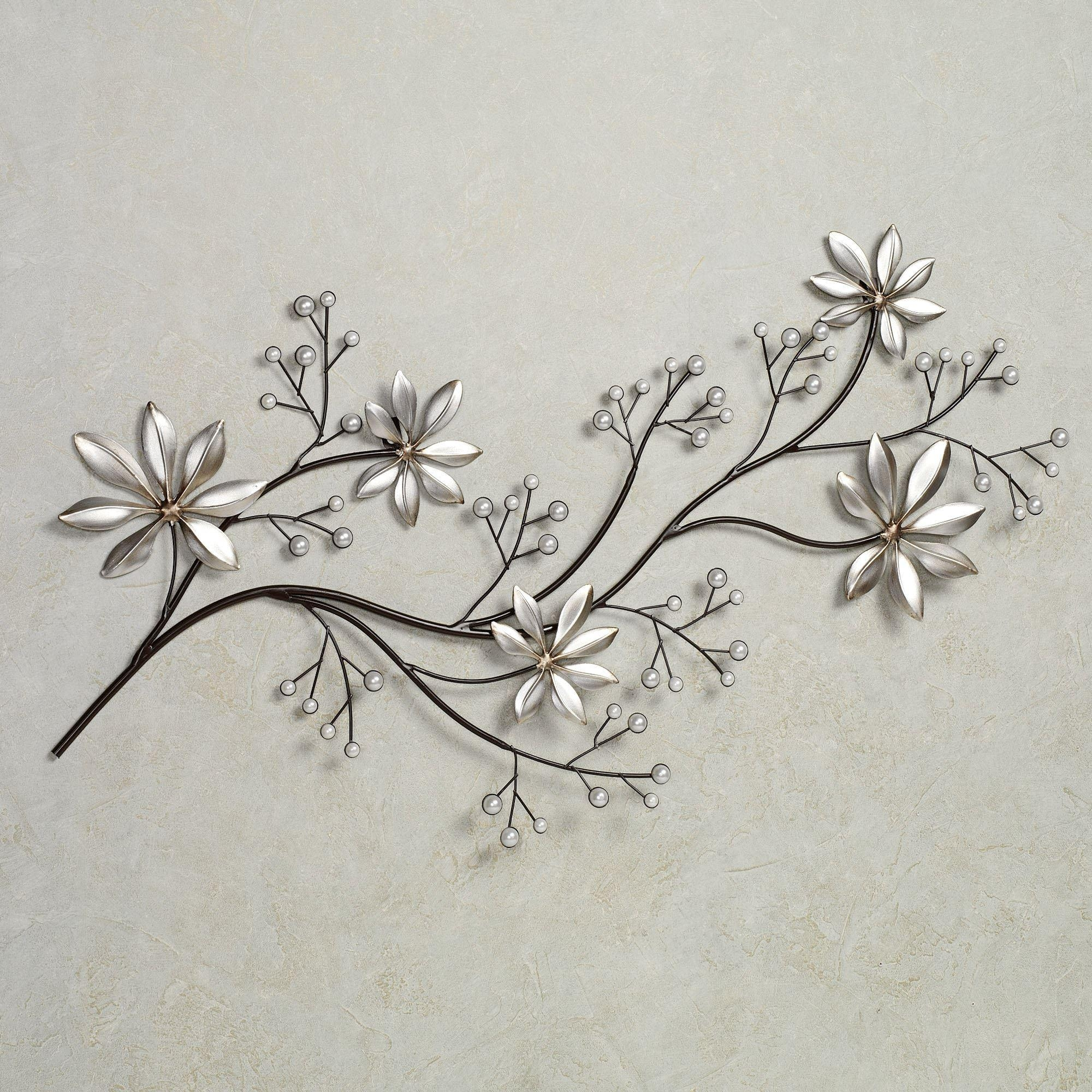Wall Design: Metal Flower Wall Art Inspirations (View 14 of 20)