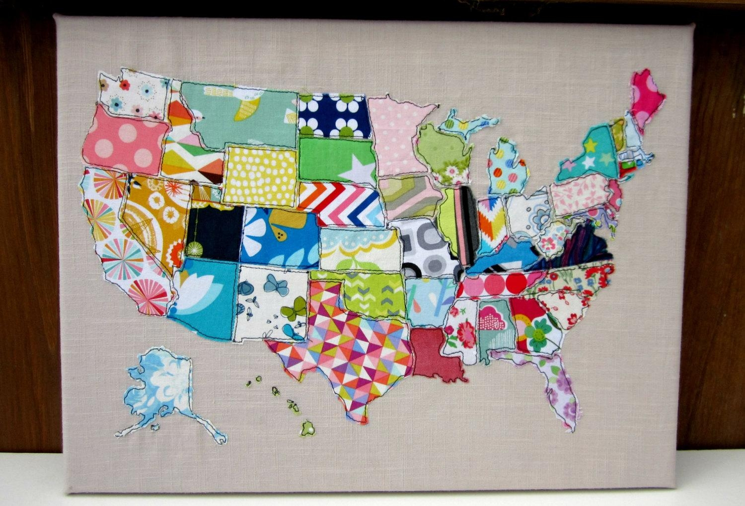 Wall Design: Us Map Wall Art Inspirations. Design Ideas (View 7 of 21)