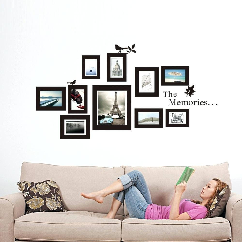 Wall Ideas : 1 Photo Frame Wall Art Ideas Fancy Wall Decor Idea Within Wall Art Frames (View 5 of 20)
