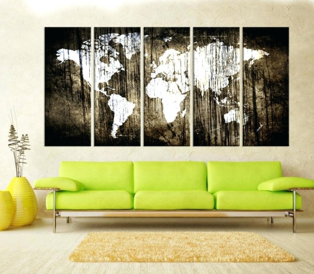Wall Ideas : Abstract Framed Wall Art Square 4 V2 Black Framed Pertaining To Framed World Map Wall Art (View 16 of 20)