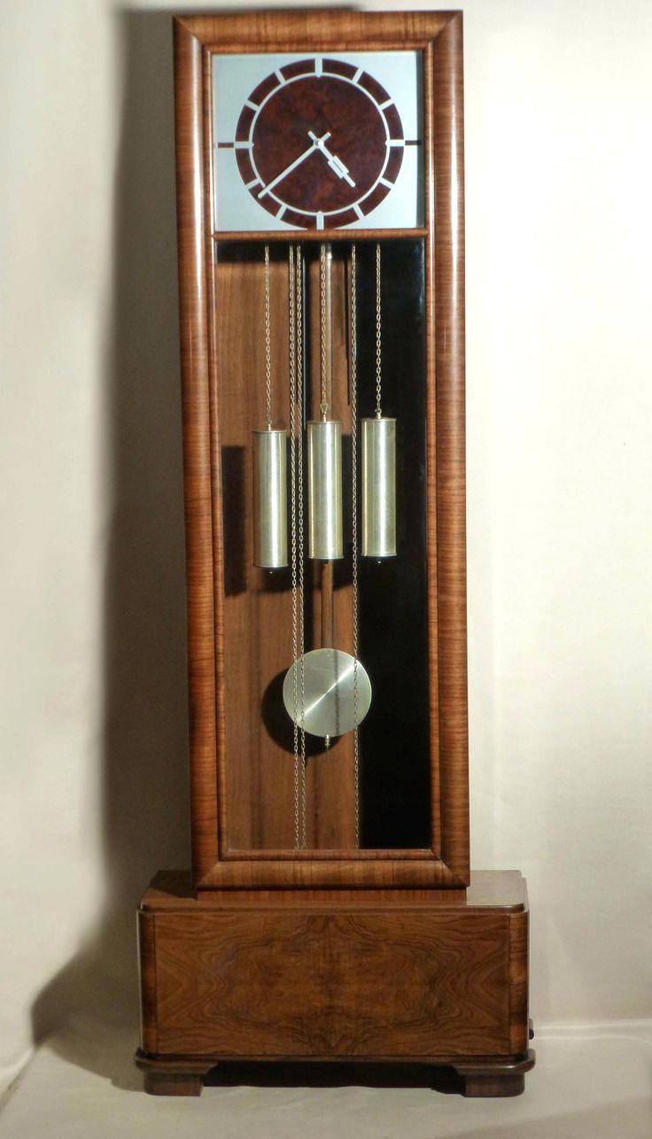 Wall Ideas : Art Deco Wall Clocks Large Art Deco Grandfather Clock For Large Art Deco Wall Clocks (View 12 of 20)