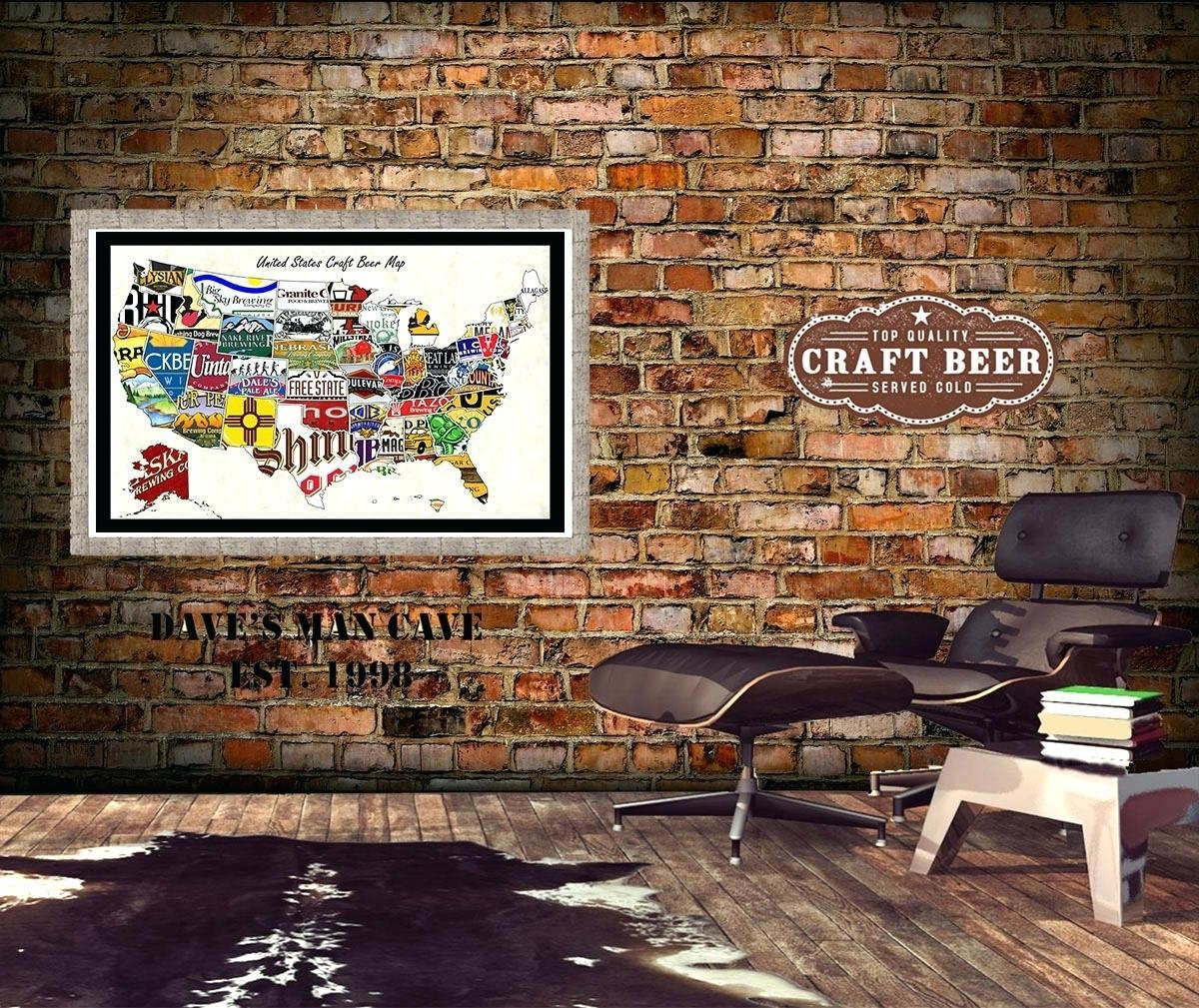 Wall Ideas : Beer Can Wall Art Wall Street Journal Craft Beer In Us Map Wall Art (Image 19 of 20)
