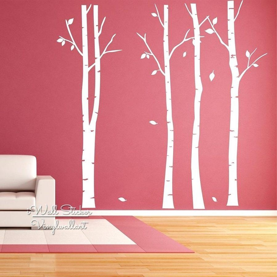 Wall Ideas : Birch Tree Wall Art Sticker Modern Large Tree Wall Throughout Modern Vinyl Wall Art (View 4 of 20)