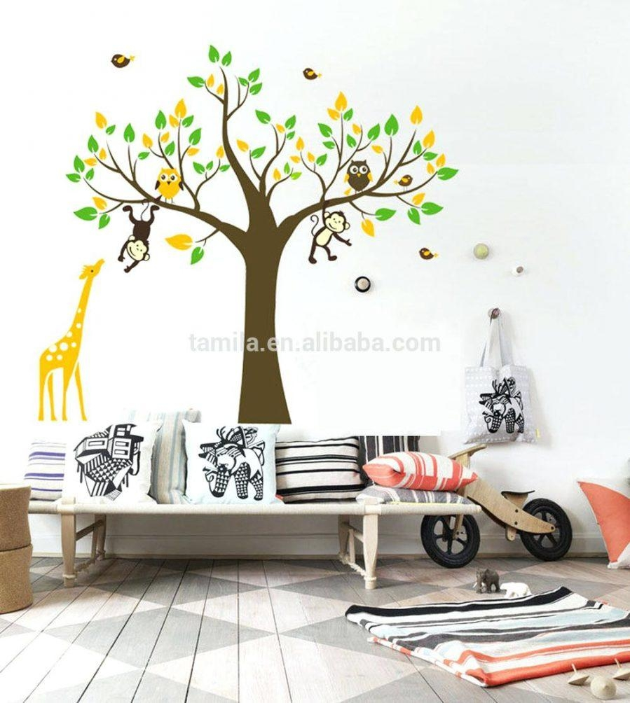Wall Ideas : Birch Tree Wall Art Sticker Modern Large Tree Wall With Regard To Vinyl Wall Art Tree (Image 16 of 20)