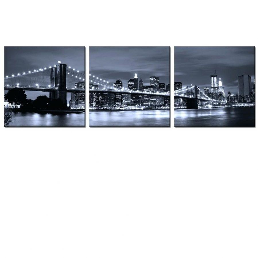 Wall Ideas : Brooklyn Bridge Wall Art Ikea Brooklyn Ny Wall Art With New York Skyline Canvas Black And White Wall Art (Image 20 of 20)