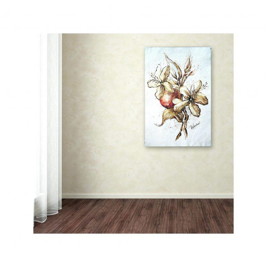 Wall Ideas : Brown Wall Art Metal Brown And Cream Metal Wall Art Intended For Cream Metal Wall Art (View 4 of 20)