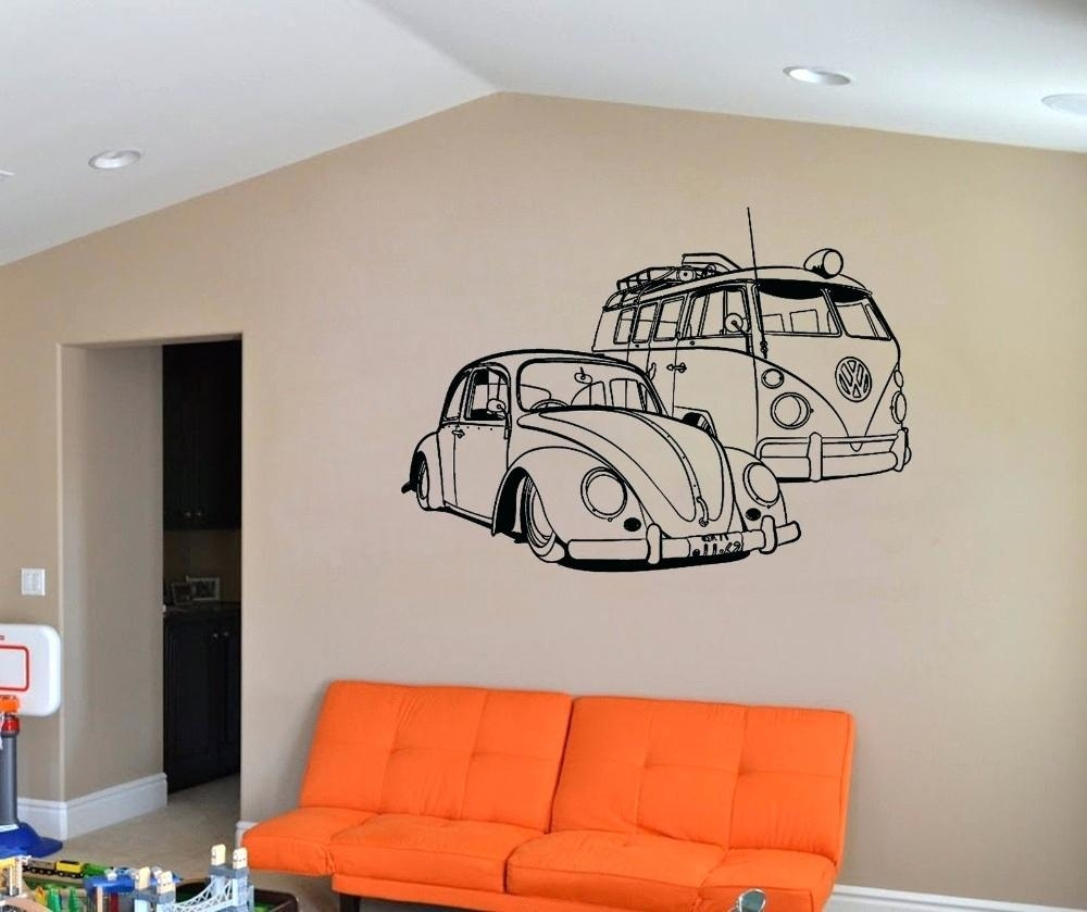 Wall Ideas : Car Wall Art Stickers Vintage Race Car Wall Art Inside Campervan Metal Wall Art (Image 20 of 20)