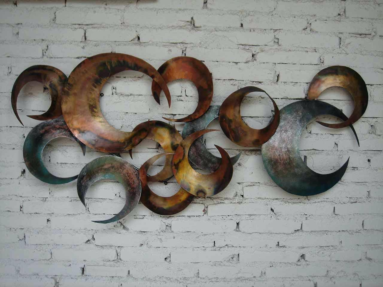 Wall Ideas : Contemporary Metal Sculpture Wall Art Radiance Inside Contemporary Metal Wall Art Sculpture (Image 19 of 20)