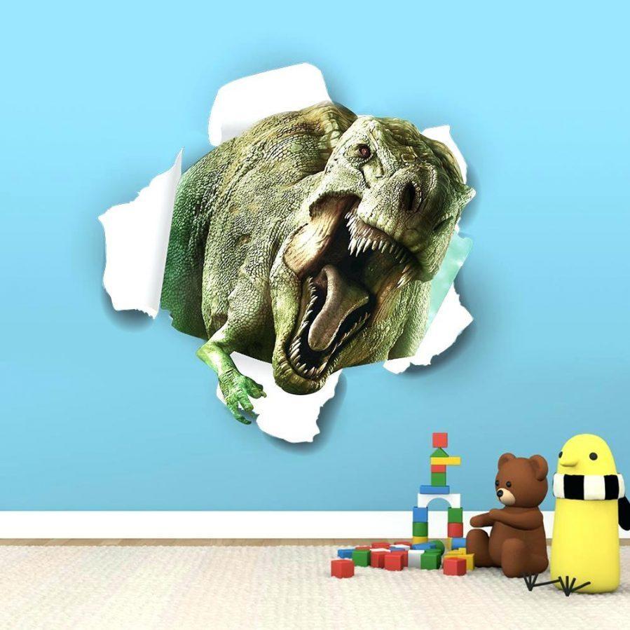 Wall Ideas : Dinosaur Wall Art Pottery Barn Dinosaur Wall Art Inside Dinosaur Wall Art For Kids (Image 19 of 20)