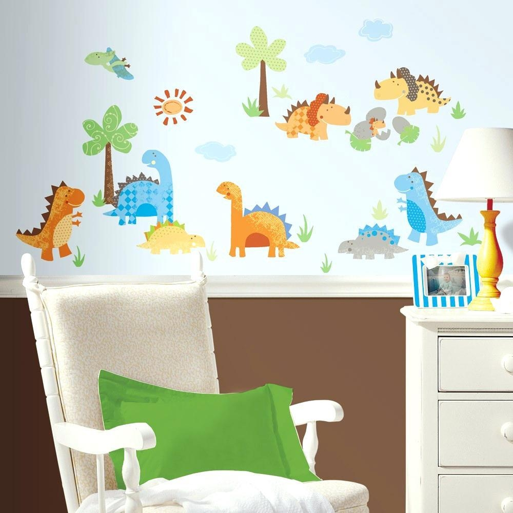 Wall Ideas : Dinosaur Wall Art Stretched Canvas Dinosaur Wall Art In Dinosaur Wall Art For Kids (Image 20 of 20)