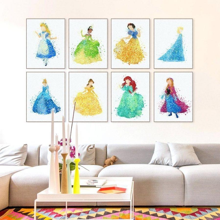 Wall Ideas : Disney Castle Wall Art Cinderella Carriage Wall Art Regarding Disney Princess Wall Art (View 14 of 20)